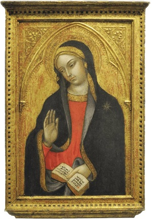 The Virgin Annunciate, by Tedeo di Bartolo (Siena: 1362/3–after 1422)