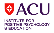 Logo for the ACU Institute for Positive Psychology and Education