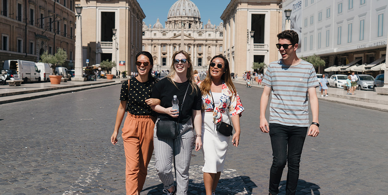 ACU Arts students studying in Rome
