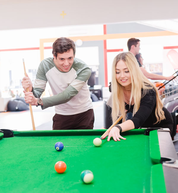 People playing pool at Ballarat campus