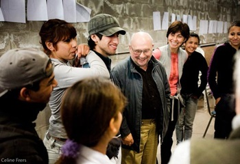 Earl Shorris meets with students and faculty of the University of San Andrews in Buenos Aires, Argentina, 2010