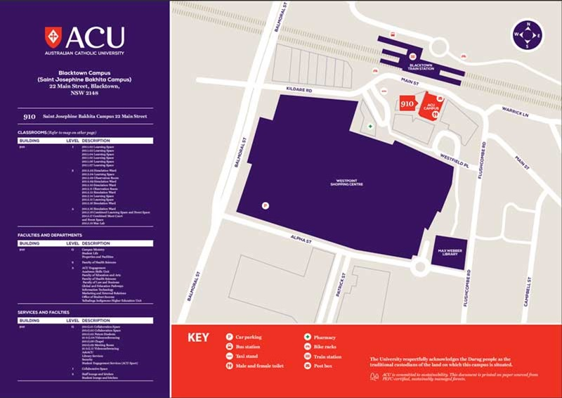 Blacktown campus map.