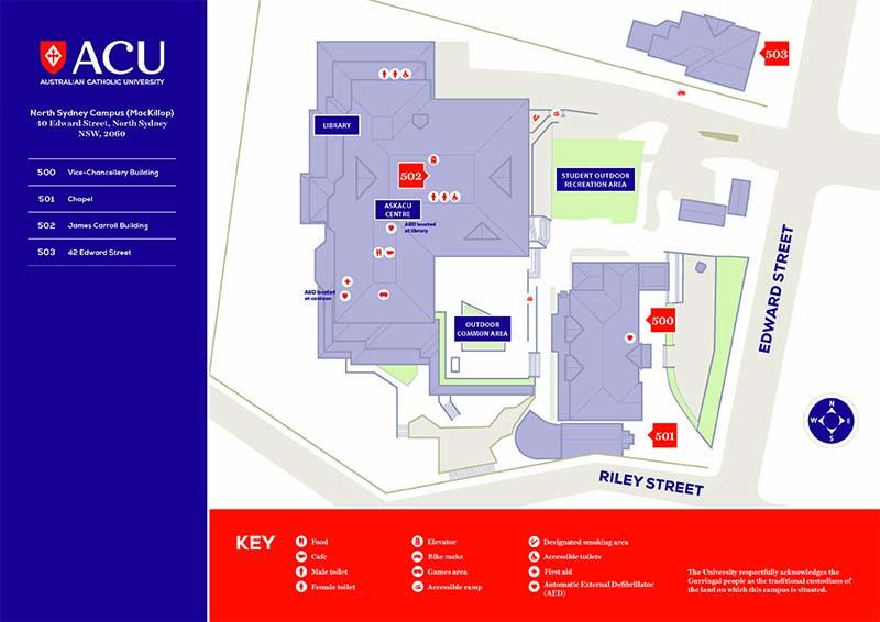 North Sydney Campus Map Acu