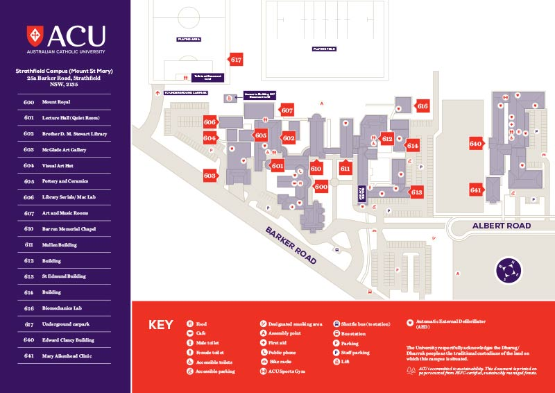 Saint Leo University Campus Map.Acu Strathfield Campus Map