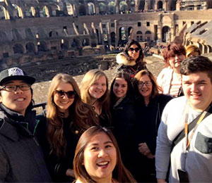 ACU study business in Rome Endeavour EU study tour